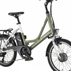 Bicicleta electrica Compact 20Km 36V 6.6Ah Autonomie 40km VerdePB Cod:E00073-7 - Mountain Bike