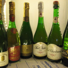 6 sticle RARE, VECHI , SAMPANIE  DE COLECTIE (lot C)