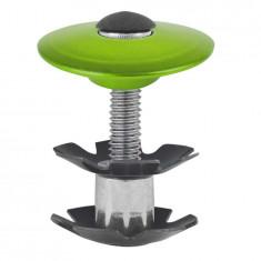 CAPAC SI FLOARE CUVETE (HEADSET) 1.1/8 M-WAVE VERDE ANODIZATPB Cod:390575 - Piesa bicicleta