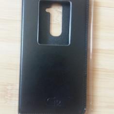 Husa tip carte Lg G2 - Husa Telefon, Negru, Vinyl, Cu clapeta