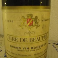 N. 8 - rare sampanie sire de beauprè, grand vin mousseux, france, 75 cl 11 vol