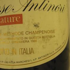 N. 22 -rare sampanie, MARCHESE ANTINORI NATURE, sboccato 1986, 75 cl 11, 5 vol