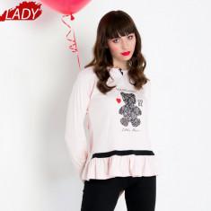 Pijama Dama Iarna, Bumbac Interlock 100%, Model Cool Little Bear, Cod 1023