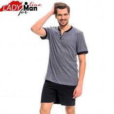 Pijama Barbati Calitate Superioara, Model Gray&Black For Man, Cod 1270