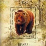 2008 Romania, LP 1799, LP 1800-Ursi(serie si colita)-MNH - Timbre Romania, Nestampilat