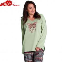 Pijama Dama Marimi Mari, Bumbac 100%, Vienetta Secret, Cod 805 - Pijamale dama, Marime: XXL, Culoare: Verde