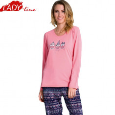 Pijama Dama Vienetta Secret, Bumbac 100%, Model Just Magic For You, Cod 1001 - Pijamale dama, Marime: XL, Culoare: Roz