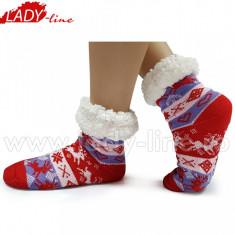 Ciorapi De Interior Imblaniti, Model Winter Redple, Culoare Rosu/Purpuriu, Ciorapi Imblaniti, Marime 36-41 (Culori: Rosu/Albastru, Marimi: 36-41)