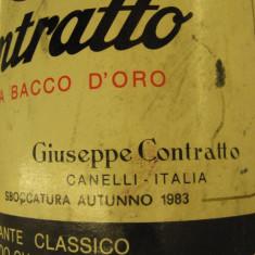 n. 17 -rare sampanie, CONTRATTO, RISERVA BACCO AUR, sboccato 1983, 75 cl 12 vol