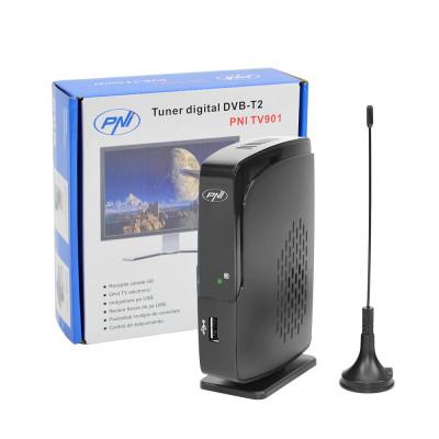 Resigilat : Tuner digital DVB-T2 PNI TV901 cu antena inclusa foto