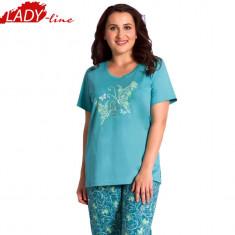 Pijamale Dama Maneca Scurta si Pantalon 3/4, Brand Vienetta Secret, Cod 1274, Marime: XL, Culoare: Verde