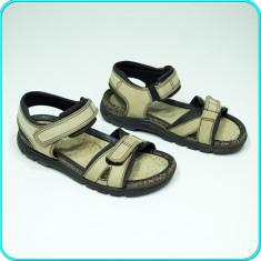 DE FIRMA → Sandale din piele, usoare, comode, aerisite, ECCO → barbati | nr. 39, Bej
