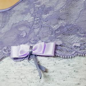 Pijama Dama Calitate Desavarsita, Bumbac 100%, Model Elegant Lace, Cod 1123