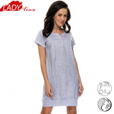 Camasa Dama Maneca Scurta Cu Nasturi, Model Sexy In Gray, Bumbac 100%, Cod 1072