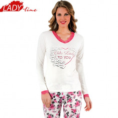 Pijama Dama Maneca/Pantalon Lung, Brand Ipektem, Model Chic Lady To You, Cod 994