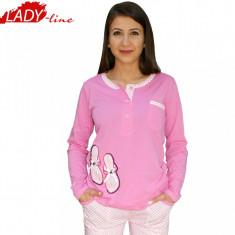 Pijamale Dama Maneca si Pantalon Lung, Brand Lindros, Cod 379, Marime: L, XXL, Culoare: Roz