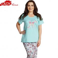 Pijama Dama Marimi Mari 1XL - 4XL, Brand Vienetta, Nina Butterfly, Cod 1157 - Pijamale dama, Marime: XXL, XXXL, Culoare: Verde