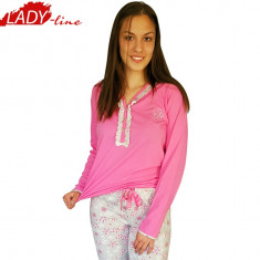 Pijama Dama cu Maneca si Pantalon Lung, Model Sweet Dreams, Cod 1222