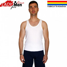 Maieu Barbatesc Calitate Superioara, Fabricat in Romania, Bumbac 100%, Cod 461 - Pijamale barbati, Marime: M, L, XL, Culoare: Alb