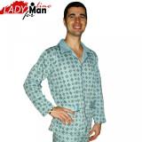 Pijama Barbati Cu Nasturi, Bumbac, Model Clasic Sky, Brand PT Fashion, Cod 315