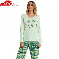 Pijama Dama Toamna/Iarna, Bumbac 100%, Model Panda I Am A Dreamer, Cod 603