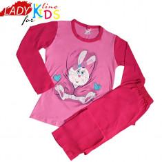 Pijamale Fete, Bumbac 100%, Marimi Disponibile in Descriere, Cod 997, Marime: One size, Culoare: Roz