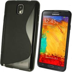 Husa Samsung Galaxy Note 3 N9000 TPU S-Line Neagra - Husa Telefon, Negru, Gel TPU, Fara snur, Carcasa