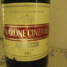 N. 16 -rare sampanie, marone cinzano RECOLTARE 1983 sboccato 1986, 75 cl 12 vol
