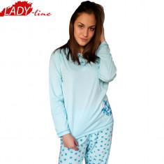 Pijamale Dama cu Maneca si Pantalon Lung, Producator Dehai-T, Cod 1083, Marime: M, Culoare: Albastru
