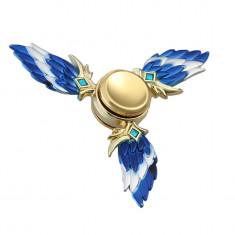 Fidger Spinner -Elf / Hobbit - Metalic/Rezistent - Albastru /Tipla/Antistress