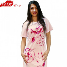 Camasa de Noapte, Model Roses, Brand Just Play, Bumbac 100%, Cod 543, Marime: M, Culoare: Roz
