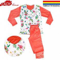Pijama Dama Marimi Mari, Fabricat in Romania, Bumbac 100%,Model Gardens, Cod 574