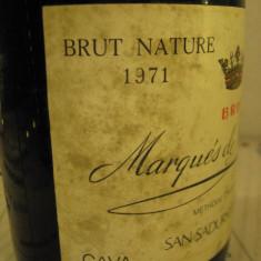 N. 11 - vechi sampanie 1971 marquès de monistrol, brut nsture,  75 cl 11,8 vol