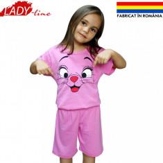 Pijamale Fete, Fabricat in Romania, Marimi Disponibile in Descriere, Cod 515, Marime: One size, Culoare: Roz