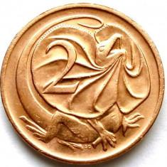 AUSTRALIA, 2 CENTS 1981, SOPARLA : DRAGONUL GULERAT !!!, Australia si Oceania, Cupru (arama)