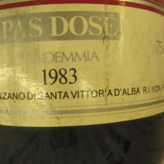 N. 15 -rare sampanie, marone cinzano RECOLTARE 1983 sboccato 1986, 75 cl 12 vol