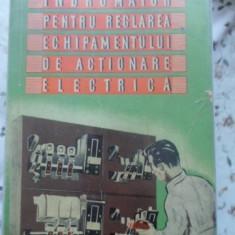 Indrumator Pentru Reglarea Echipamentului De Actionare Electr - A. Ia. Tun, A.o. Ivanov, 399707 - Carti Electrotehnica