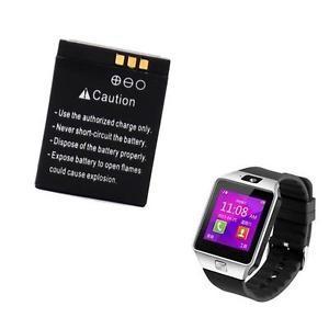 Baterie pentru DZ09, baterie 380 mAh DZ09, baterie smartwatch