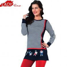 Pijama Dama cu Maneca/Colanti Lungi, Model Happy Kids - Happy Mom, Cod 860 - Pijamale dama, Marime: L/XL, Culoare: Rosu