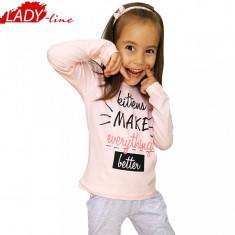 Pijamale Fete Maneca/Pantalon Lung, Marimi Disponibile in Descriere, Cod 515, Marime: One size, Culoare: Roz