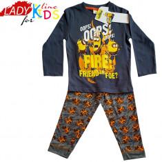 Pijamale Baieti, Minions - Ooops Fire, Marimi Disponibile in Descriere, Cod 833, Marime: One size, Culoare: Gri