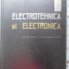 Electrotehnica Si Electronica Manual Pentru Licee De Speciali - Al. Fransua, S. Canescu, 399769 - Carti Electrotehnica