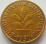 Moneda 10 Pfennig J - RF GERMANIA, anul 1950 *cod 2724 xF, Europa