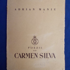 ADRIAN MANIU - POEZII DIN CARMEN SYLVA * DESENE RODICA MANIU - ED. 1-A - 1936