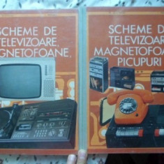 Scheme De Televizoare, Magnetofoane, Picupuri Vol.1-2 - M. Silisteanu, I. Presura, 399837 - Carti Electrotehnica