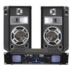 SET BOXE 10 INCH BASIC GRI + AMPLIFICATOR LTC500