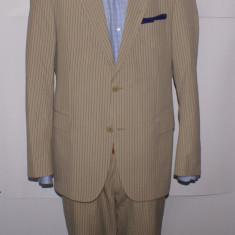 Costum barbati DRYKORN din bumbac 100% marimea 48 - 50 culoarea cappuccino dungi, 2 nasturi, Normal, Marime talie: 33