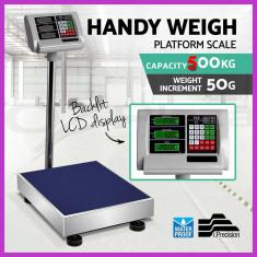 Cantar electronic platforma piata 500 kg - Cantar comercial