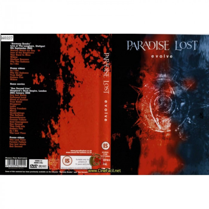 PARADISE LOST -  EVOLVE,  DVD