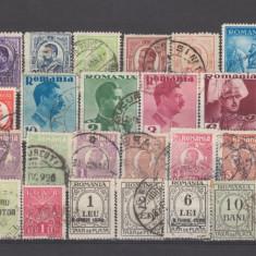 Romania dupa 1906 30 valori stampilate - Timbre Romania, Oameni